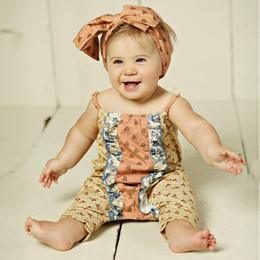 Mustard Pie Amber Fields Stella 2pc Romper & Headband Set (**Now up to size 4T**)