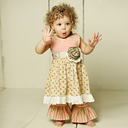 Mustard Pie Amber Fields Olivia 2pc Dress Set (**Now up to size 6X**)