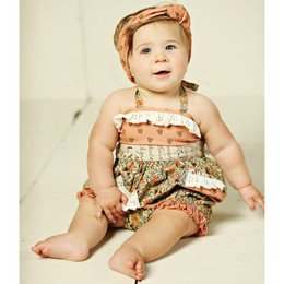 Mustard Pie Amber Fields Anastasia Romper (**Now up to size 4T**)