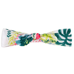 Deux Par Deux Flamingo Edit Headband - Foliage Print