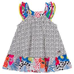 Deux Par Deux So Safari Woven Dress - Triangle Print