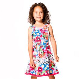 Deux Par Deux So Safari Viscose Cutout Dress - Floral Print