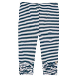 Deux Par Deux High Style Legging - Navy Stripe