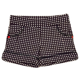 Deux Par Deux Dog Story Checked Shorts - Anthracite