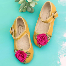 Joyfolie Lola Mary Jane Shoes - Ochre