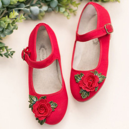 Joyfolie Lola Mary Jane Shoes - Red