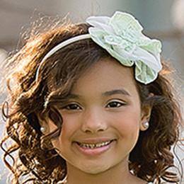 Isobella & Chloe Lavender Bouquet Hard Headband - Green