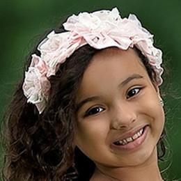 Isobella & Chloe Bubbles Elastic Flower Crown Headband - Light Pink