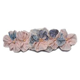 Isobella & Chloe Alice Elastic Flower Crown Headband - Light Pink