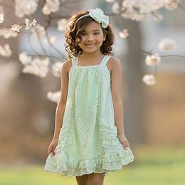 Isobella & Chloe Lavender Bouquet Dress - Green
