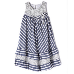 Isobella & Chloe Jey A-Line Dress - Slate Blue