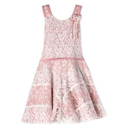Isobella & Chloe Blushing Petals Lace Dress - Pink