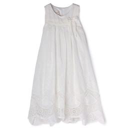 Isobella & Chloe Prairie Lace Hem Dress - White