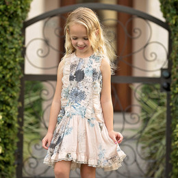Isobella & Chloe Alice Ruffle Dress - Light Pink