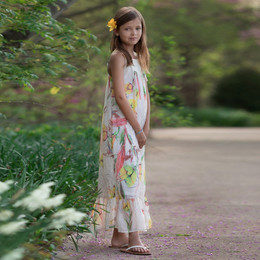 Isobella & Chloe Butterfly Breeze Maxi Dress - White