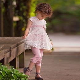 Isobella & Chloe Blushing Petals 2pc Tunic & Legging Set - Pink