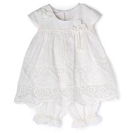 Isobella & Chloe Prairie 2pc Tunic & Bloomer Short Set - White