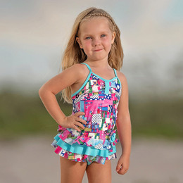 Isobella & Chloe Eureka 2pc Tankini Swimsuit - Multi