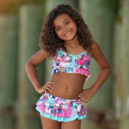 Isobella & Chloe Eureka 2pc Skirted Swimsuit - Multi