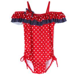 Isobella & Chloe Dottie 1pc Swimsuit - Red