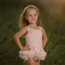 Isobella & Chloe Mermaid Dance 1pc Swimsuit - Light Pink
