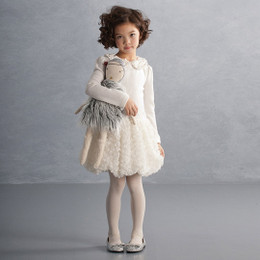Biscotti Snow Kisses L/S Dress - Ivory