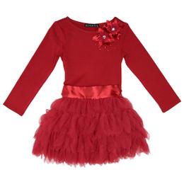 Biscotti Deck The Halls L/S Dropwaist Dress - Red