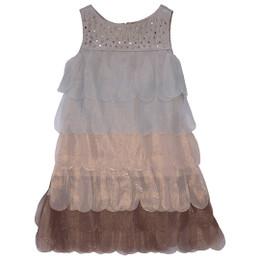 Biscotti Gilded Dove Petals Dress - Bronze