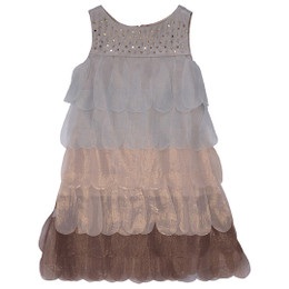 Biscotti Gilded Dove Petals Dress - Bronze