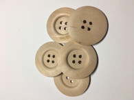 Large Plain Wooden Buttons