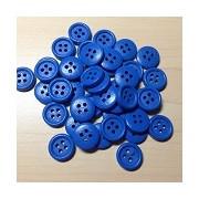 Wooden Button Blue