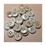 Wooden Buttons Light Golden