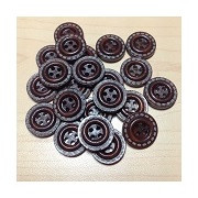 Wooden Buttons Saddle Brown