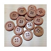 Wooden Buttons Brown