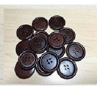 Wooden Buttons Coconut Brown