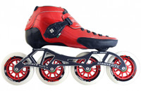Atom Skates - Luigino Strut - 4  wheel Inline speed skate package