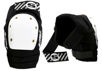 Smith Scabs Safety Gear - Elite Knee Pads - Black w/ White caps