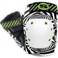 Smith Scabs Safety Gear - Elite Knee Pads - HYPNO WHITE BLACK & GREEN