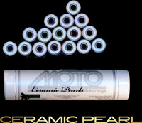 Moto Ceramic Pearl bearings ( set of 16 roller derby bearings )