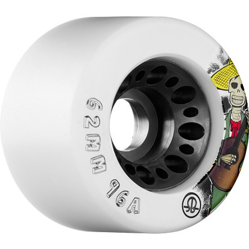 Rollerbones - Day of the Dead (62x96a) Roller Derby Wheels ( 4 pack )