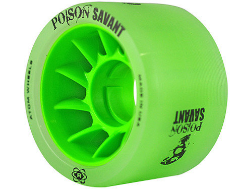 Atom Skates -Green Poison Savant Wheels - Set of 4
