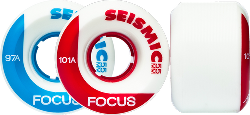 Seismic Longboard wheels - 55mm Focus Wheels