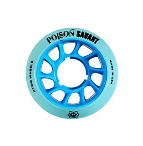 Atom Skates - Blue Poison Savant Wheels - Set of 4