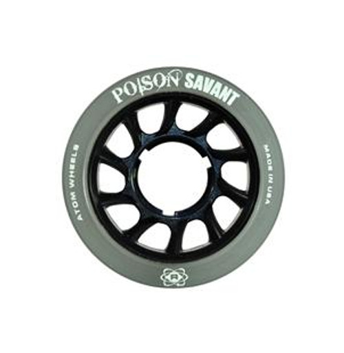 Atom Skates - Black Poison Savant Wheels - Set of 4