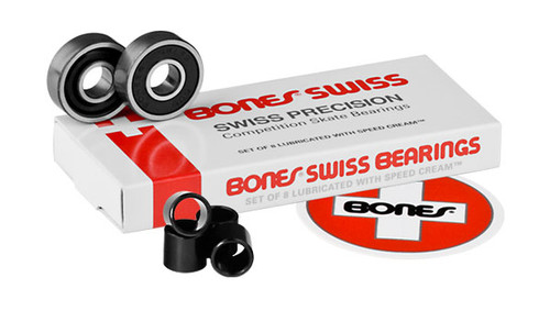 Bones Bearings - Swiss Bearings Bearings ( 8 pack )  608 8 mm