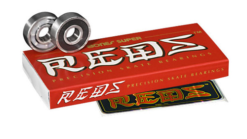 Bones Bearings - Super  REDS Bearings ( 16 pack )  608 8mm