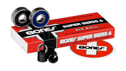 Bones Bearings - Super Swiss 6 Bearings ( 16 pack )  608 8 mm