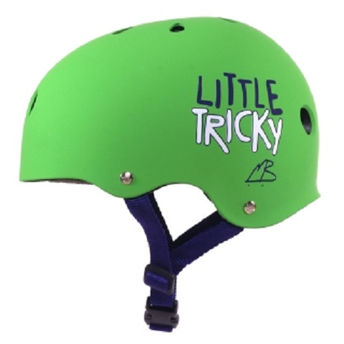 Triple 8 - GREEN - Little Tricky Dual Certified Youth Helmet with EPS Liner