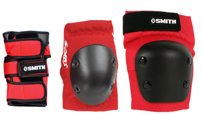 Smith Scabs Safety Gear -  RED - ADULT 3 PACK