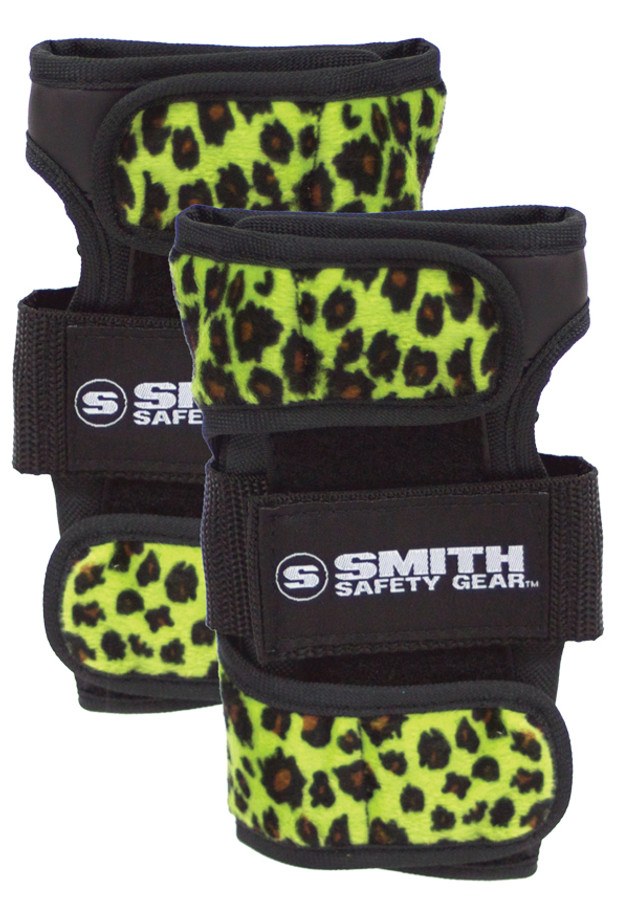Smith Scabs Safety Gear -  WRIST GUARDS - GREEN Leopard